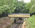 Footbridge with rebuilt parapet, Maryon Park - geograph.org.uk - 819500.jpg