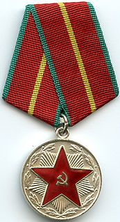 "Medal ""For Impeccable Service"" award"