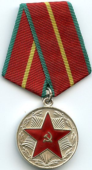 "Medal ""For Impeccable Service"" - Image: For Impeccable Service 1st class CCCP OBVERSE"