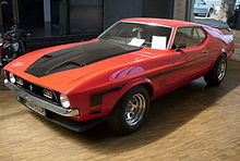 Photo d'une Ford Mustang Boss de 1971.