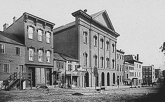 Washington, D.C. - Ford's Theatre in the 19th century, site of the 1865 assassination of President Lincoln