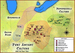 Shawnee - Fort Ancient Monongahela cultures by Herb Roe