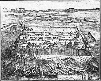 Fort Detroit - Fort Pontchartrain du Détroit in 1710