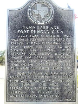 Fort Duncan - Image: Fort Duncan Texas historical marker