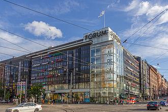 Forum (shopping centre) - Forum as seen from Simonkatu.