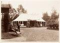 Fotografi av Ljusne. Serveringstältet vid villan. Vid Oscar IIs besök - Hallwylska museet - 106803.tif