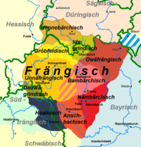 East Franconian subdialects