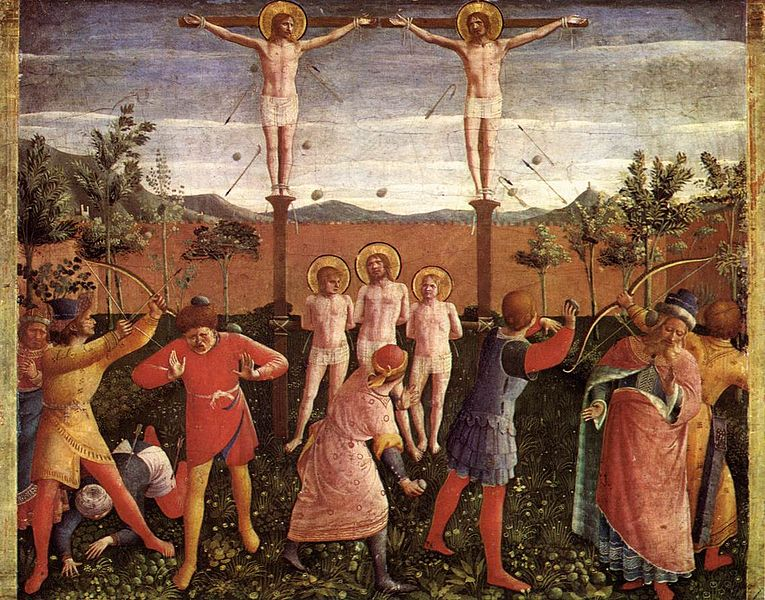 File:Fra Angelico - Saint Cosmas and Saint Damian Crucifixed and Stoned - WGA0516.jpg