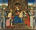Francesco Di Gabriele Da Viterbo - Madonna and Child Enthroned with Saints - WGA08103.jpg