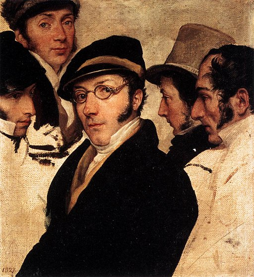 Francesco Hayez - Self-Portrait in a Group of Friends - WGA11210