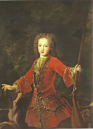 Francis I, Holy Roman Emperor - Francis at the age of 15 in his hunting attire.