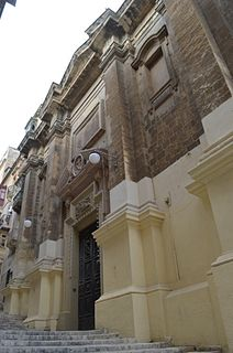 Franciscan Church of St Mary of Jesus Church in Valletta, Malta