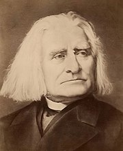 Liszt in about 1880-85, from a Russian-made cabinet card.