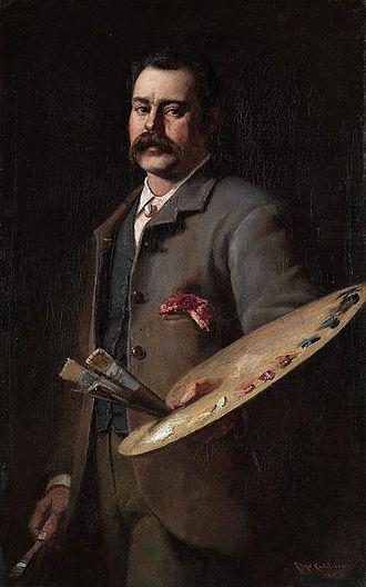 Hilda Rix Nicholas - Self-portrait of Frederick McCubbin, member of the Heidelberg School and Rix Nicholas's first major influence