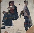 Frederik Collett - Two Women in Folk Costumes - NG.M.03076 - National Museum of Art, Architecture and Design.jpg