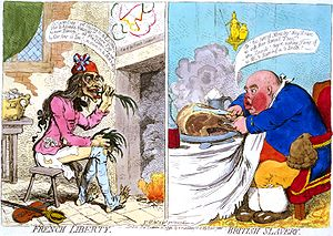 French Liberty. British Slavery. Js. Gy. desn....