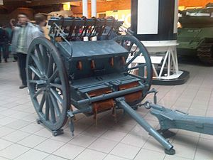 French 75 mm field gun and limber - Imperial War Museum 2.jpg