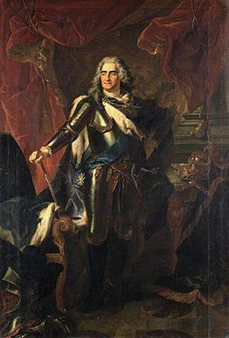 Moritzburg, Saxony - Augustus II the Strong in 1718.