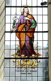 Fronhofen Pfarrkirche Fenster Constituit eum Dominum