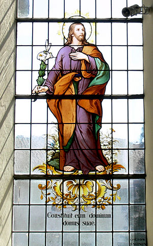 Psalm 104 - Psalm 104 in Fronhofen Parish window.