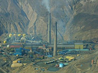 El Teniente - Copper smelter at El Teniente