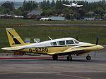 G-BZRO Piper Twin Comanche (27050780641).jpg