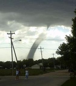 A landspout near North Platte, Nebraska on May 22, 2004.