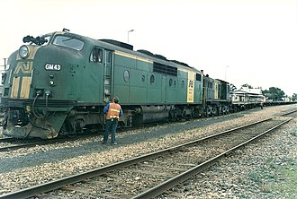 Australian National Railways Commission - GM class and 830 class at Mount Gambier in April 1995