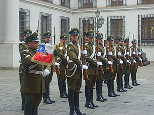La Moneda Palace Guard - Chile's Palace Guard pictured in 2007