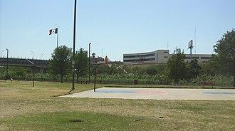 Gateway to the Americas International Bridge - View of the Gateway to the Americas International Bridge Mexican side