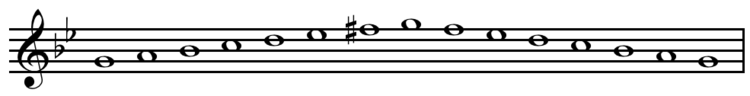 G harmonic minor scale ascending and descending