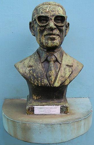 Gabino Coria Peñaloza - Bust of Gabino Coria Peñaloza, made by Euzer Díaz and placed along Buenos Aires' Caminito.