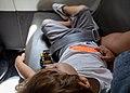 Gabriel sleeping on a plane from Lisbon, Portugal to Madrid, Spain (PPL1-Corrected) julesvernex2.jpg
