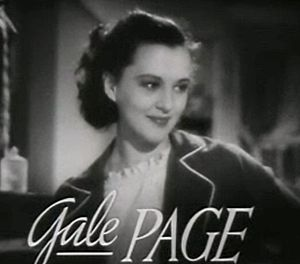 Gale Page - Image: Gale Page in Four Daughters trailer