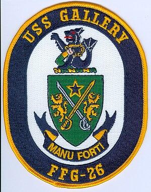 USS Gallery (FFG-26) - Image: Gallery FFG26 Arms