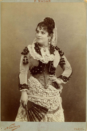 Célestine Galli-Marié - Galli-Marié was the original Carmen, photo by Félix Nadar.