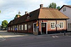 Det gamle apotek mod Långgatan og Gussarvsgatan
