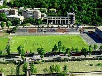 Gandzasar Stadium - Image: Gandzasar Stadium, Kapan, Armenia, May 2012