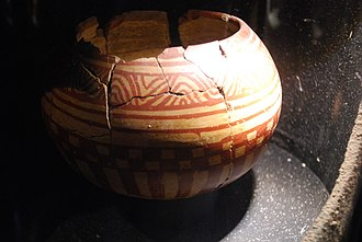 Durango - Azatlan-style pottery at the Durango city archeological museum