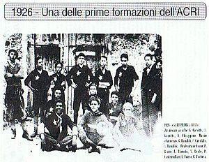 F.C. Calcio Acri -  Garibaldina Acri in 1926.
