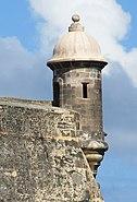 Garita at Castillo de San Cristobal-Detail