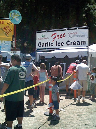 Garlic ice cream - Garlic ice cream at the 2007 Gilroy Garlic Festival in Gilroy, California.