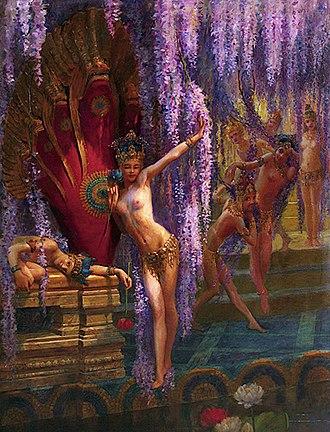 Gaston Bussière - Image: Gaston Bussiere Exotic Dancers c 1880