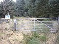 Gated access to forest path - geograph.org.uk - 1209409.jpg