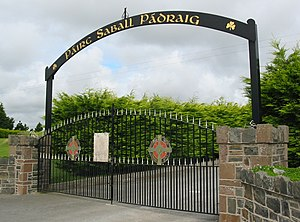 Down GAA - Entrance to sports ground, Saul, County Down