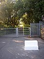 Gates and mounting block on the Great Northern Trail, Cullingworth - geograph.org.uk - 224415.jpg