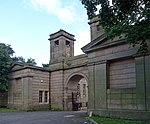 Entrance Archway, Pair of Chapel Lodges, Walls and Gates to Jesmond Cemetery