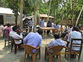 Gathering in a meeting of villagers in an Bangladeshi village 2015 16.jpg