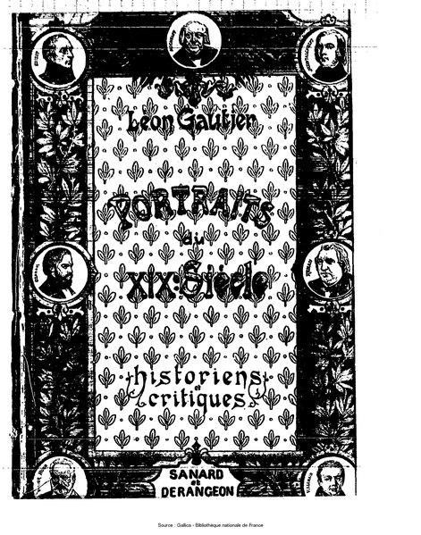 File:Gautier - Portraits du XIXe siecle, Historiens et critiques.djvu
