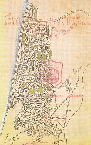 Patrick Geddes - Masterplan for Tel Aviv, 1925